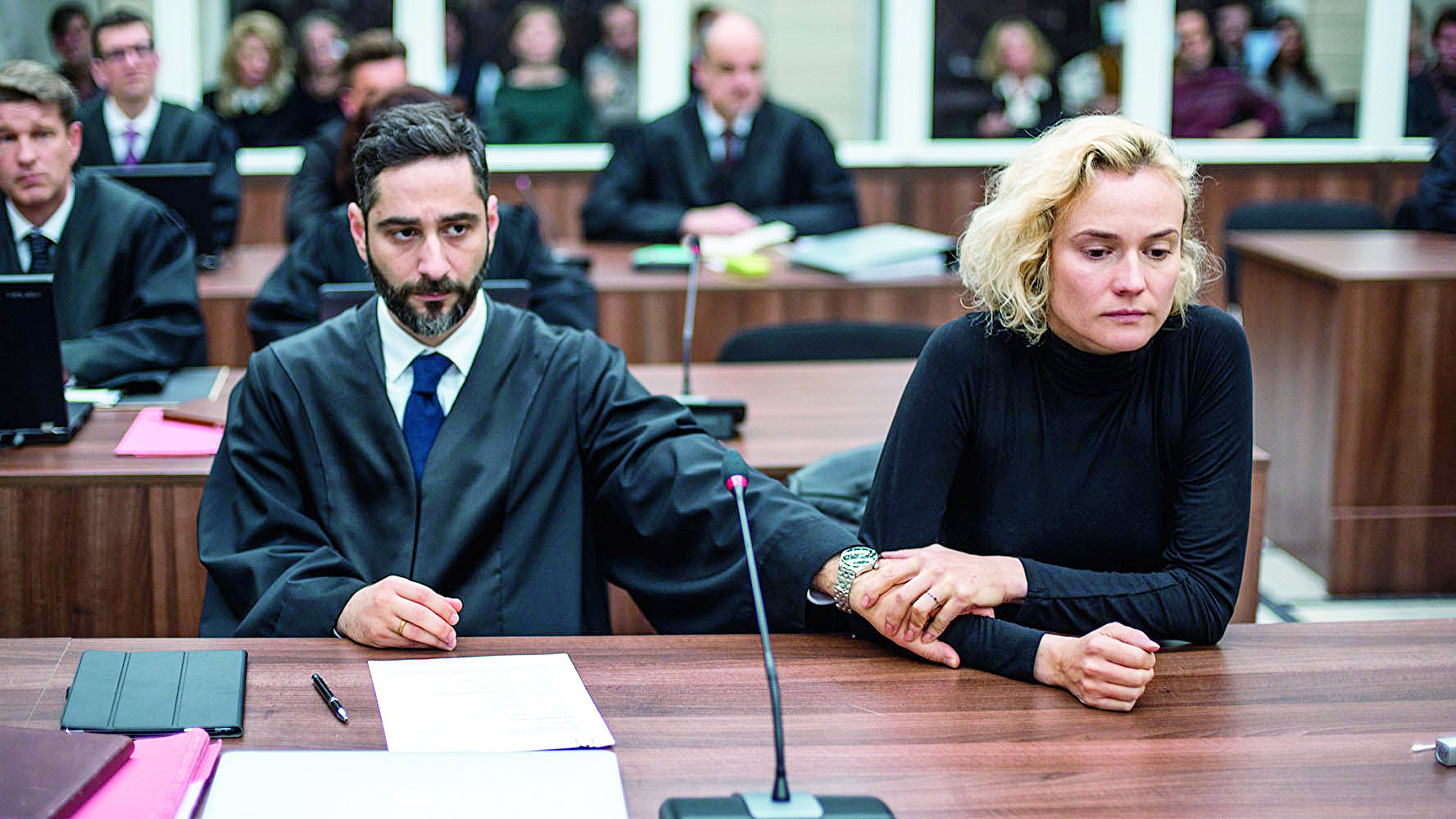 Denis Moschitto and Diane Kruger in In The Fade