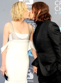 Diane Kruger and Norman Reedus Kiss