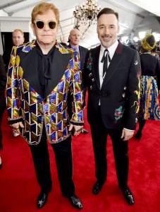 Elton John y David Furnish-Grammys