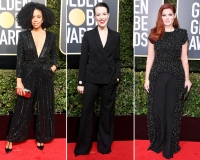 Stars Wearing Pants Golden Globes 2018