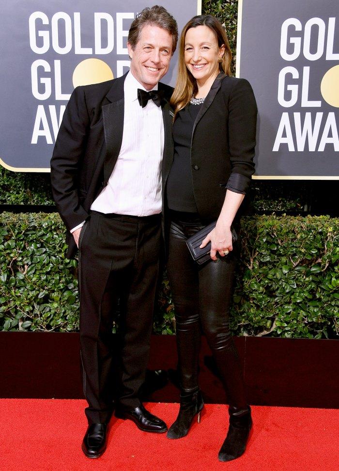 Hugh-Grant-and-Anna-Eberstein-pregnant
