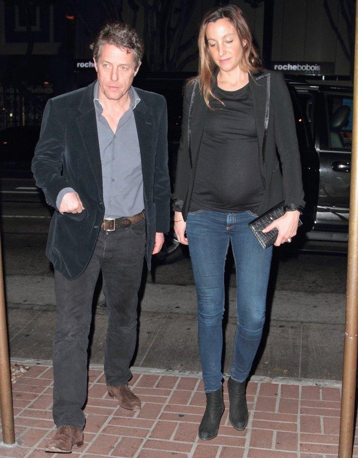Hugh Grant, Girlfriend, Anna Eberstein, Pregnant