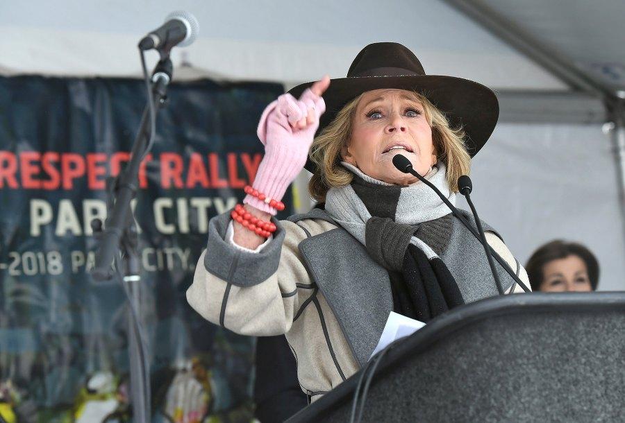 Jane Fonda, Women's March 2018
