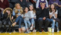 Jennifer Lopez, Alex Rodriguez, Family, Date, Twins, Daughters, Courtside, Charlotte Hornets, Los Angeles Lakers