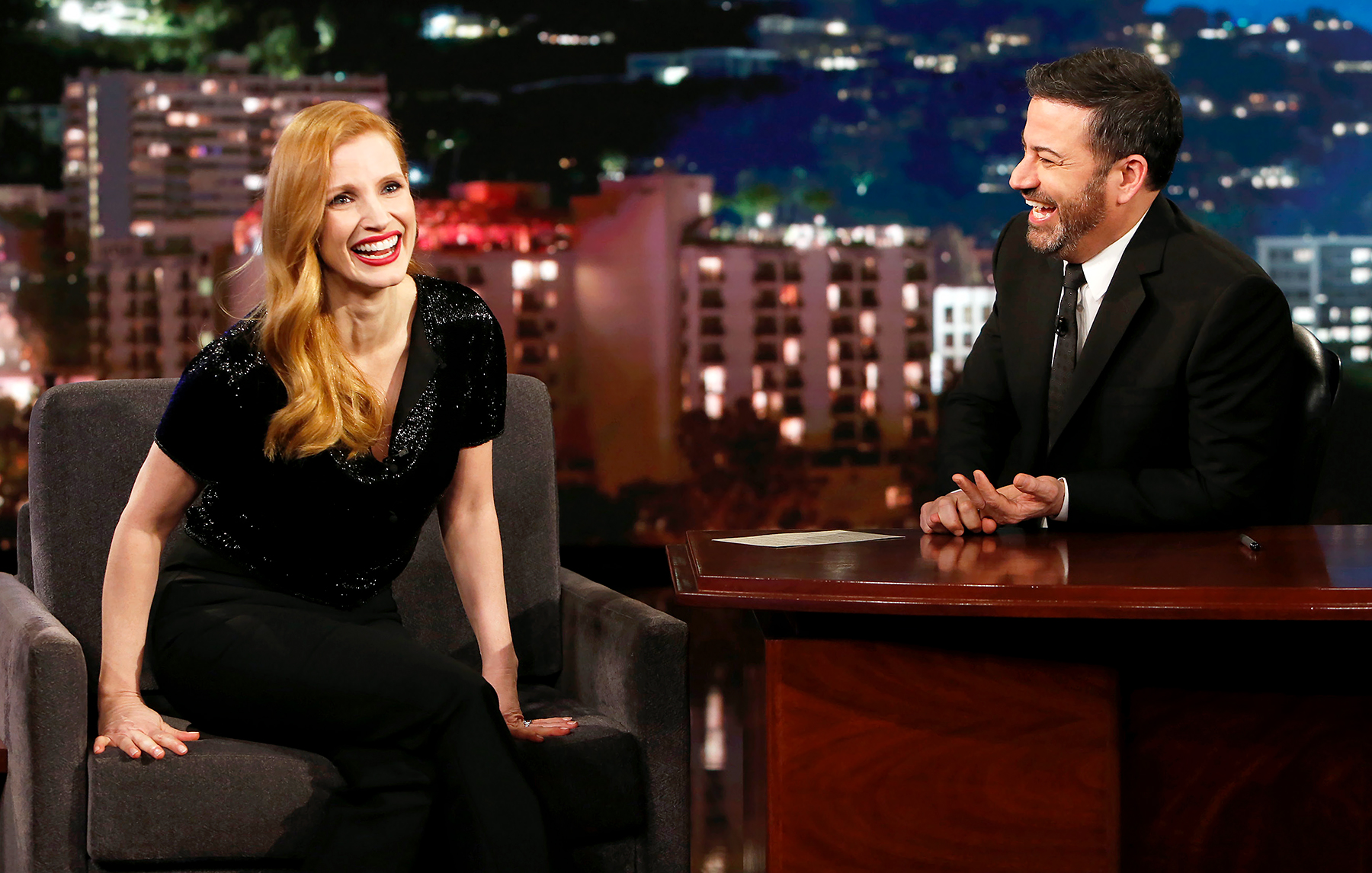 Jessica Chastain Jimmy Kimmel Live