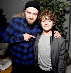 Justin Timberlake and Gaten Matarazzo