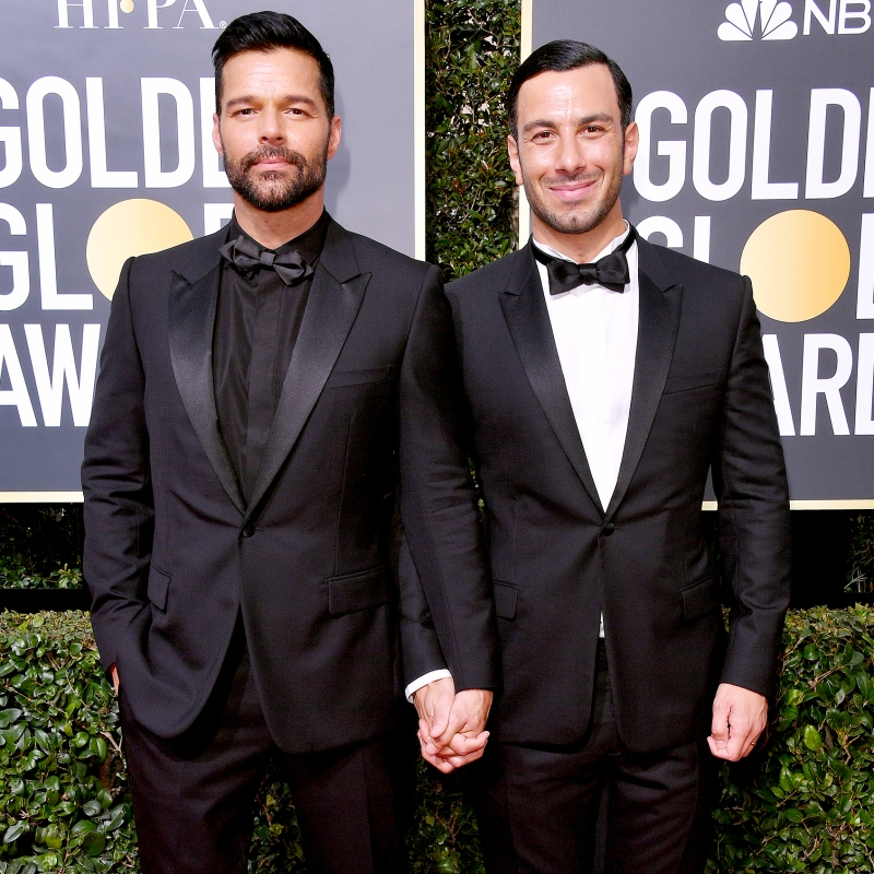 Ricky Martin and his husband Jwan Yosef at the Golden Globe Awards