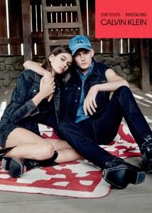 Kaia and Presley Gerber for Calvin Klein