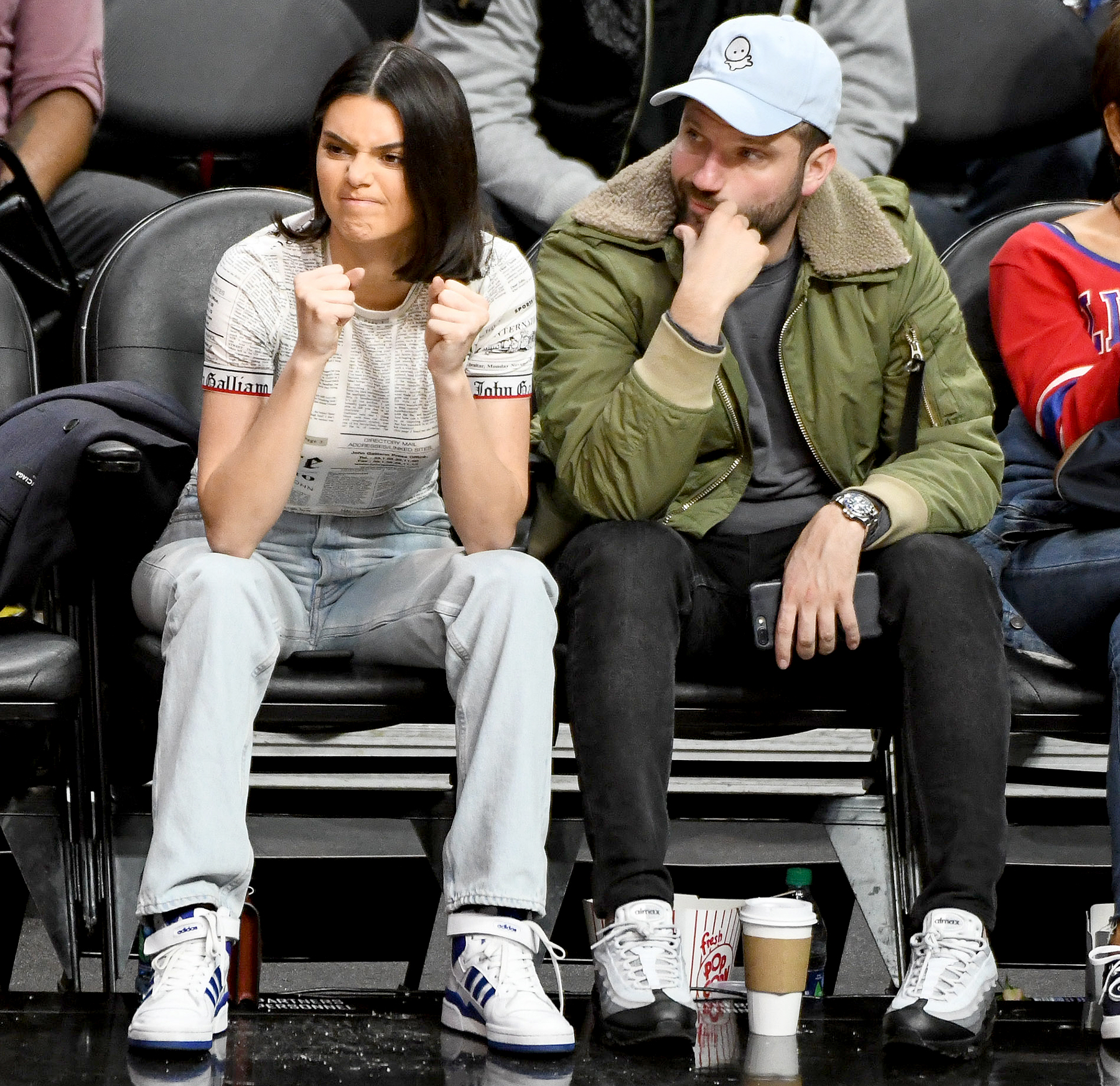 Kendall Jenner watches Blake Griffin play Boston Celtics