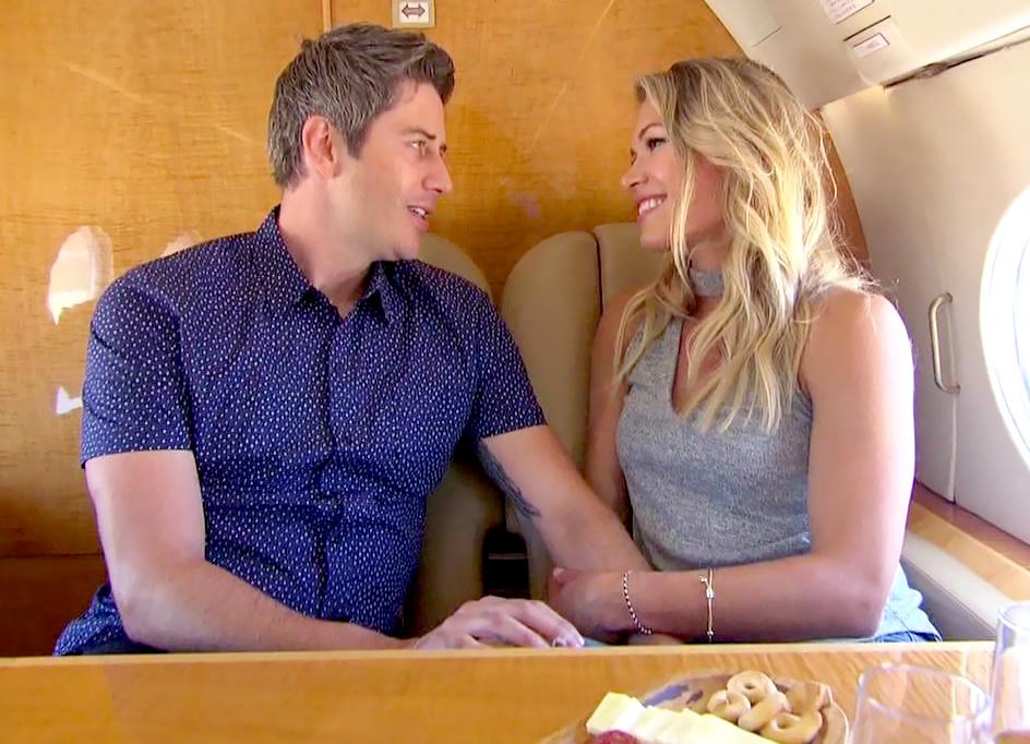 Arie Luyendyuk andKrystal Neilson flew to Aries'Arizona hometown