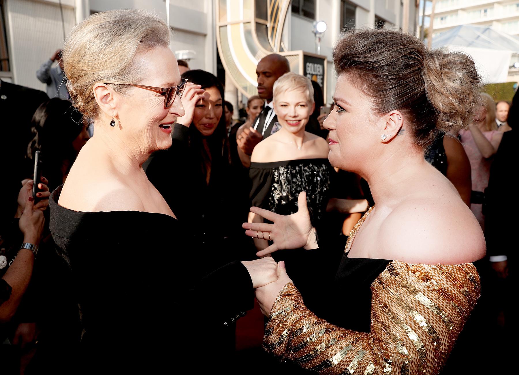 Meryl Streep Kelly Clarkson Golden Globes 2018