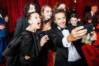 Millie Bobby Brown Finn Wolfhard Shawn Levy Noah Schnapp Netflix Golden Globes after party 2018