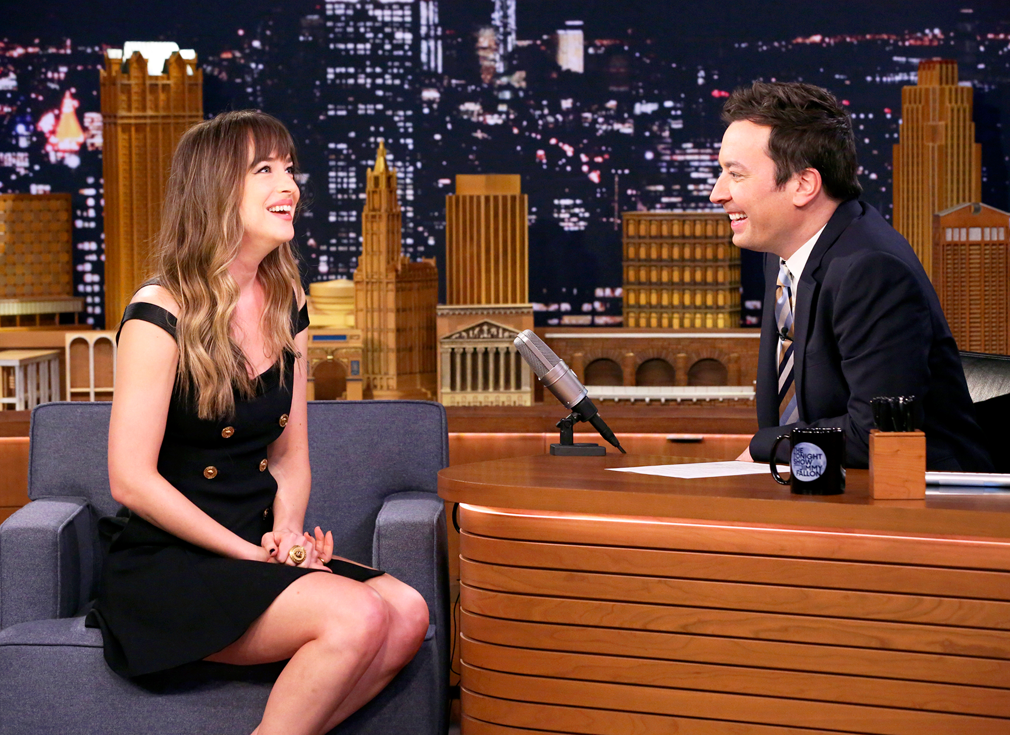 Dakota Johnson insists she wasn't staring at Angelina Jolie at Golden Globes