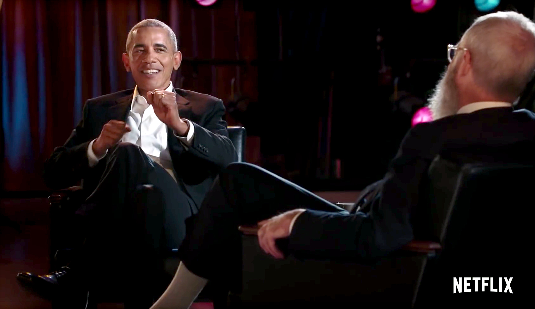 Barack Obama explains 'dad moves' on David Letterman's new Netflix talk show