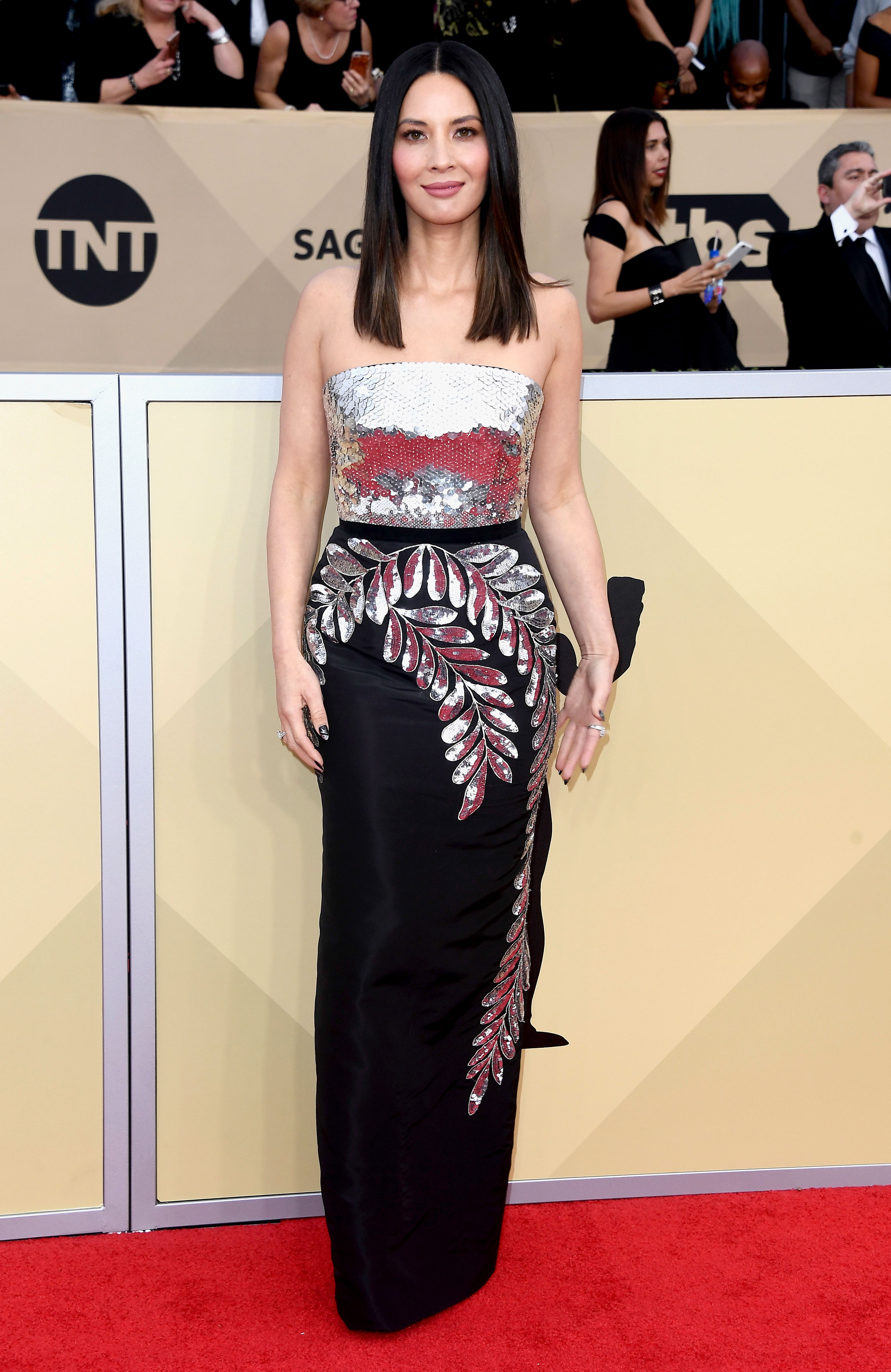 Sag Awards 2018 Red Carpet Fashion See Stars Dresses Gowns
