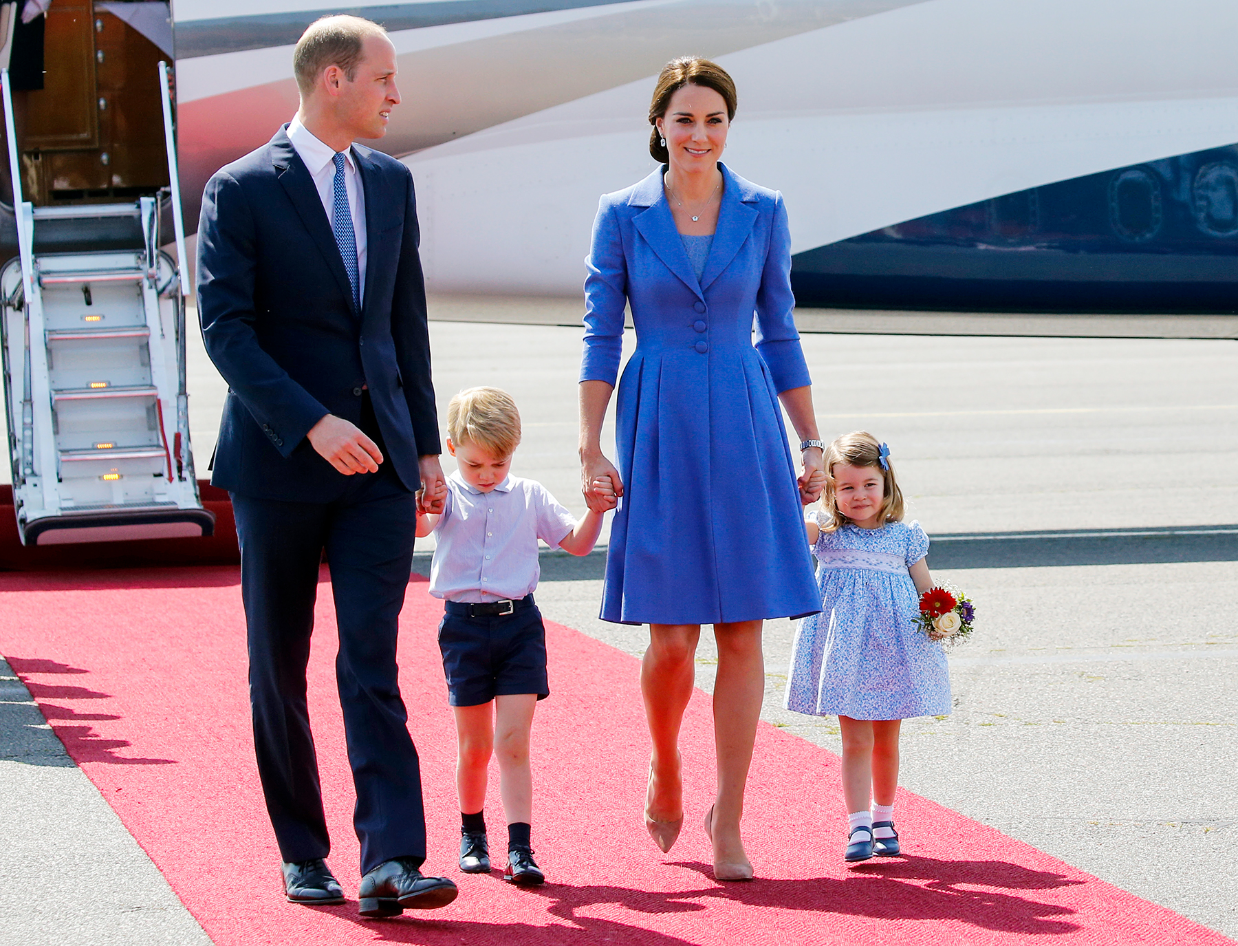 Prince William Prince George Kate Middleton Princess Charlotte