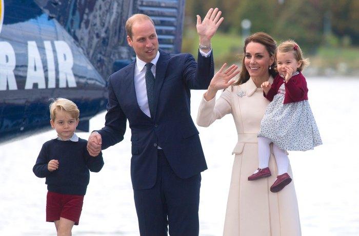 Prince George, Prince William, Duchess Kate and Princess Charlotte