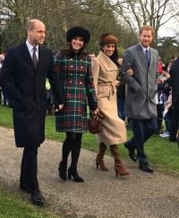 Prince William, Kate Middleton, Meghan Markle, Prince Harry Christmas 2017