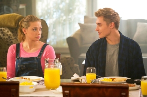 Lili Reinhart as Betty and Hart Denton as Chic in 'Riverdale'