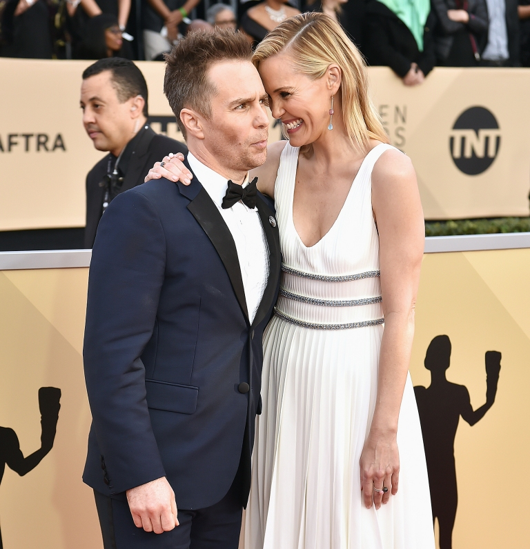 Leslie Bibb and Sam Rockwell have been together for a decade