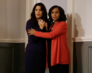 Bellamy Young and Kerry Washington on Scandal