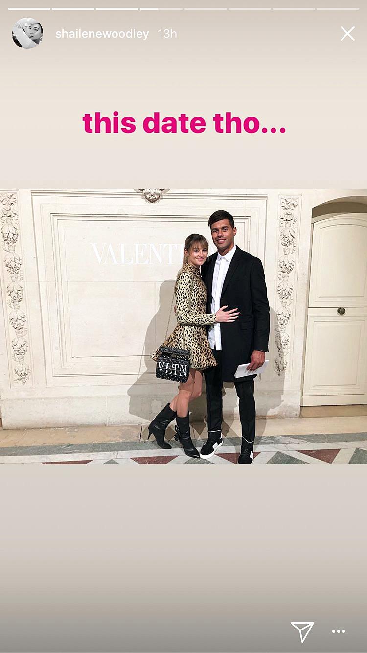 Shailene Woodley Ben Volavola Valentino Paris Fashion Week