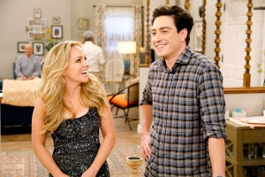 Kelly Stables as Kelly and Ben Feldman as Jonah on Superstore