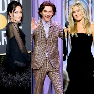 Angelina Jolie, Timothée Chalamet and Jennifer Aniston