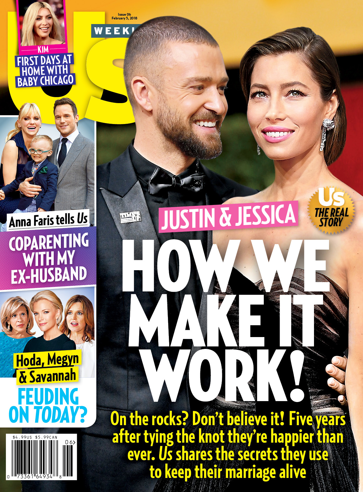 Us Weekly Justin Timberlake Jessica Biel cover