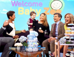 Ginger Zee and her son Adrian on 'Good Morning America'
