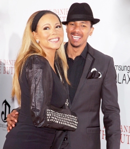Mariah Carey and Nick Cannon attend the 'Butler' 2013 premiere in New York City.