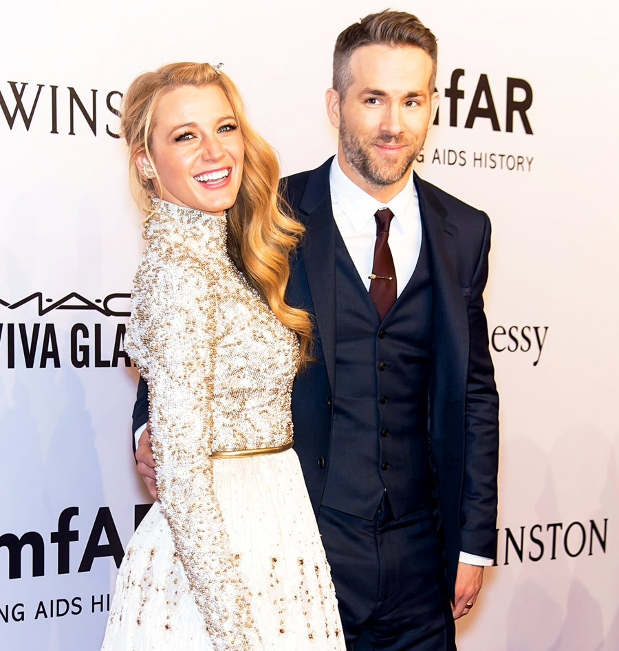 Blake Lively and Ryan Reynolds attend the 2016 amfAR New York Gala at Cipriani Wall Street in New York City.