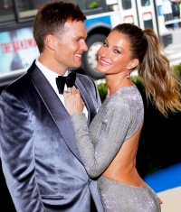 "Tom Brady and Gisele Bundchen attend ""Rei Kawakubo/Comme des Garcons: Art Of The In-Between"" Costume Institute 2017 Gala at Metropolitan Museum of Art in New York City."
