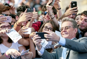 Bryan Cranston takes a selfie with the fans during the Giffoni Film Festival 2017 photocall in Giffoni Valle Piana, Italy.