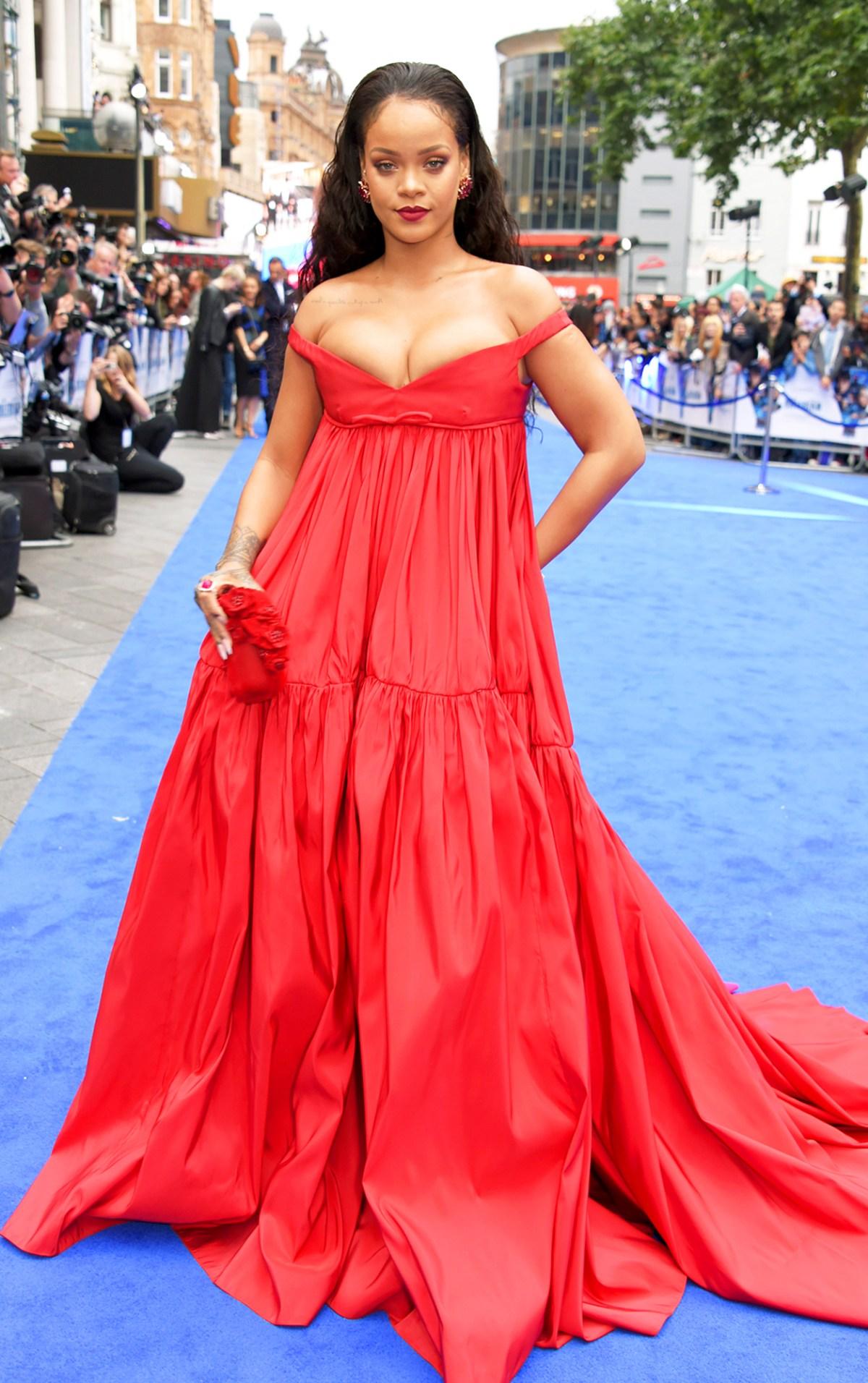 Rihanna At Red Carpet
