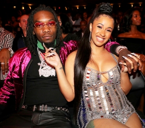 Offset and Cardi B attend the 2017 BET Hip Hop Awards in Miami Beach, Florida.