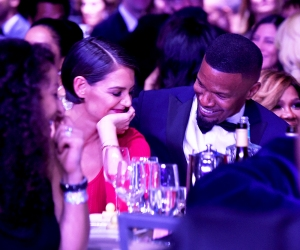 Katie Holmes and Jamie Foxx attend the Clive Davis and Recording Academy Pre-Grammy Gala and Grammy Salute to Industry Icons Honoring Jay-Z on January 27, 2018 in New York City.