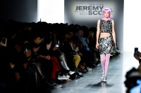 Gigi Hadid walks the runway at Jeremy Scott Show Fall 2018 during New York Fashion Week: The Shows at Gallery I at Spring Studios in New York City.