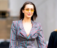 Bella Hadid seen in SoHo on February 12, 2018 in New York City.