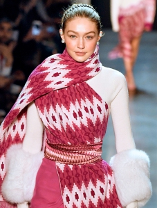 Gigi Hadid walks the runway at the Prabal Gurung Ready to Wear Fall/Winter 2018-2019 fashion show during New York Fashion Week in New York City.