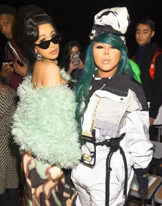 Cardi B and Lil Kim attend the Marc Jacobs Fall 2018 Show at Park Avenue Armory in New York City.