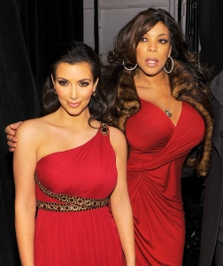 Kim Kardashian and Wendy Williams during The Heart Truth Red Dress Collection Fall 2010 during Mercedes-Benz Fashion Week at Bryant Park in New York City.