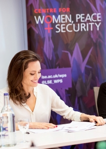 Angelina Jolie Gives Lecture as Visiting Professor in London