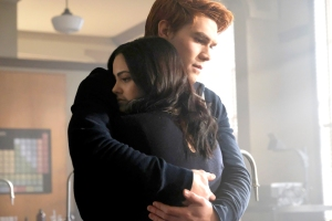KJ Apa as Archie and Camila Mendes as Veronica on Riverdale