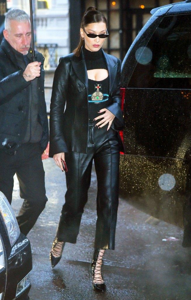 bda52bca17826 Bella Hadid Wears Vintage Vivienne Westwood in NYC