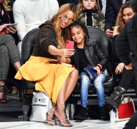 Beyonce Blue Ivy selfie NBA All-Star Game
