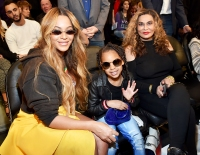 Beyonce Blue Ivy Tina Knowles NBA All-Star Game