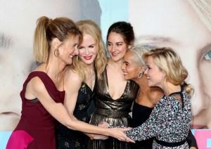 Laura Dern, Nicole Kidman, Shailene Woodley, Zoe Kravitz, and Reese Witherspoon big little lies