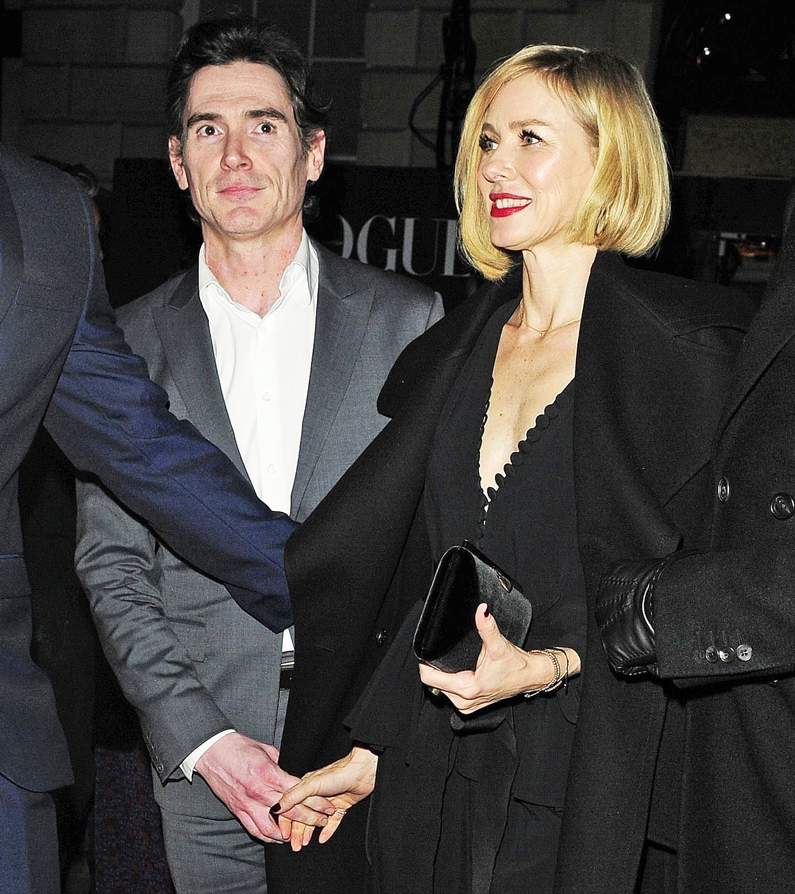 Billy Crudup Naomi Watts holding hands