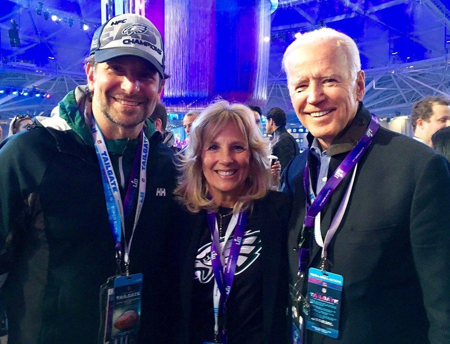 Bradley Cooper Jill Biden Joe Biden Super Bowl